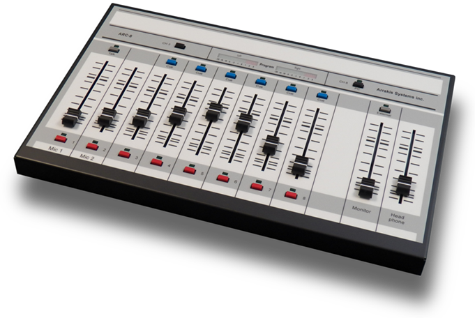 The ARC 8 console is ideal for internet and small radio applications.