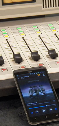 Connect your bluetooth devices to an ARC series broadcast radio console.