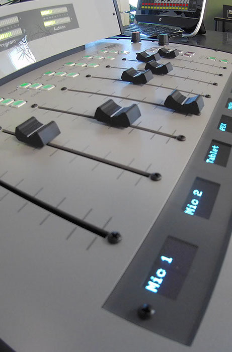The ARC 15 is extremely powerful, with its 5 mic inputs and extra input channels. It is the flagship of any radio station.
